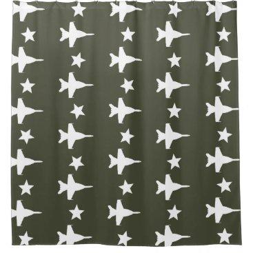 F-18 Pattern Shower Curtain