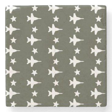 F-18 Pattern Stone Coaster