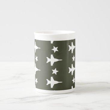 F-18 Pattern Tea Cup