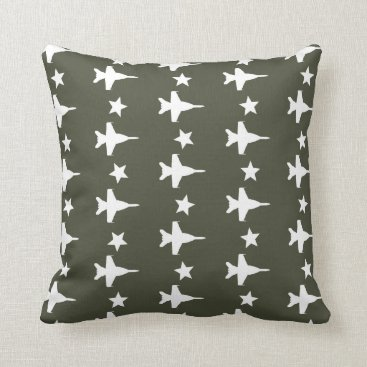 F-18 Pattern Throw Pillow