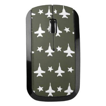 F-18 Pattern Wireless Mouse