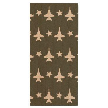 F-18 Pattern Wood Flash Drive