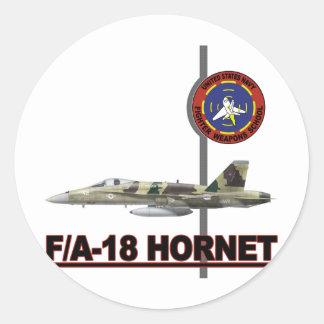 F-18 Top Gun Pegatina Redonda
