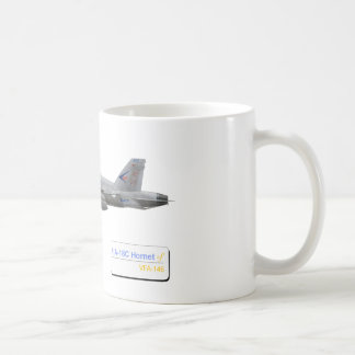 F-18 with VFA-146 Blue Diamonds Squadron Coffee Mug