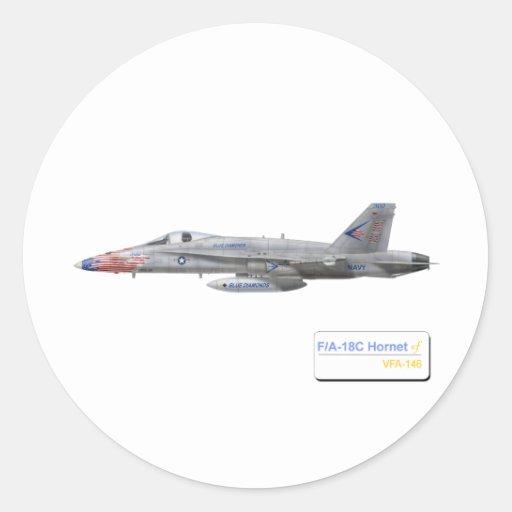 F-18 with VFA-146 Blue Diamonds Squadron Sticker