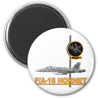 F-18 with VFA-147 ARGONAUTS Squadron 2 Inch Round Magnet