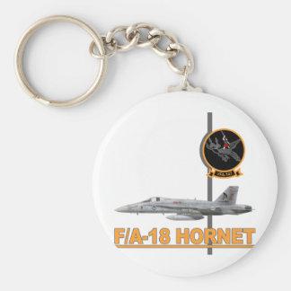 F-18 with VFA-147 ARGONAUTS Squadron Basic Round Button Keychain