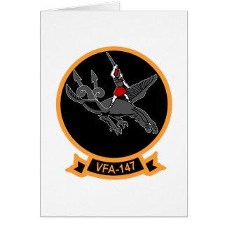 F-18 with VFA-147 ARGONAUTS Squadron Card