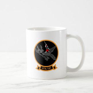 F-18 with VFA-147 ARGONAUTS Squadron Classic White Coffee Mug