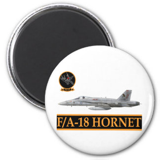 F-18 with VFA-147 ARGONAUTS Squadron 2 Inch Round Magnet