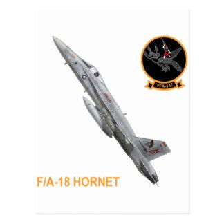 F-18 with VFA-147 ARGONAUTS Squadron Postcard