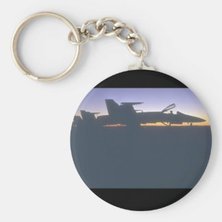 F-18s. (jet;airplane_Military Aircraft Keychain
