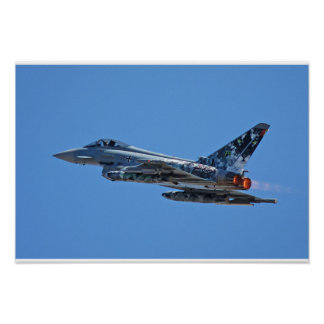 F-2000A Typhoon German Air Force 3029 take off Poster