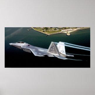 F-22 creates jet stream Poster