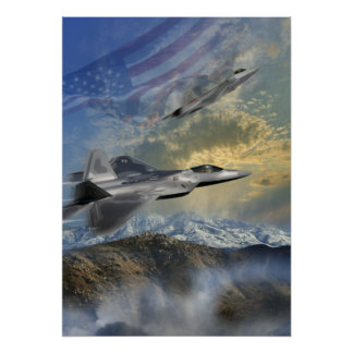 F-22 guardabosques 14 poster