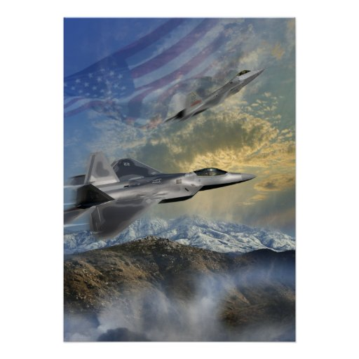 F-22 guardabosques 14 póster