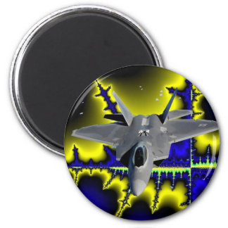 F-22 IN SPACE 2 INCH ROUND MAGNET