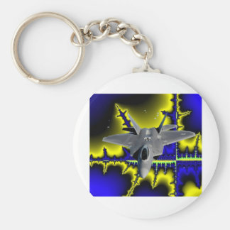 F-22 IN SPACE KEYCHAIN