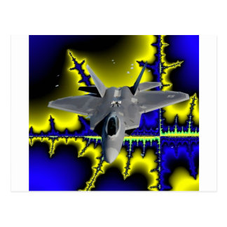 F-22 IN SPACE POSTCARD