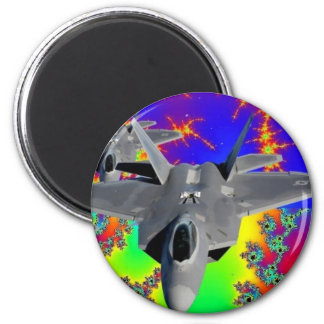F-22 RAPTOR 2 INCH ROUND MAGNET