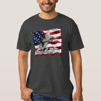 F-22 Raptor and American Flag Shirt