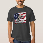 F-22 Raptor and American Flag T-shirt