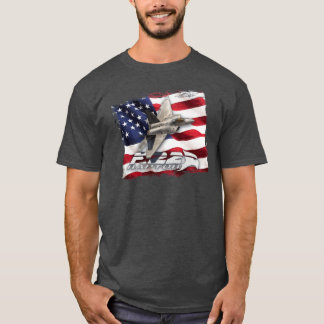 F-22 Raptor and American Flag T-Shirt