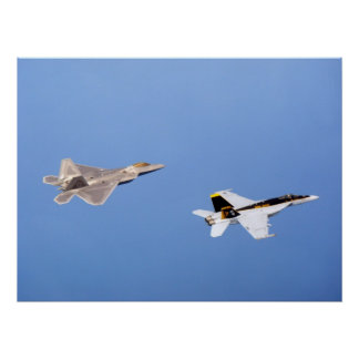 F-22 Raptor  and FA-18 Super Hornet Poster