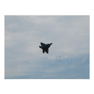 F-22 Raptor At Shaw AFB, SC. Poster