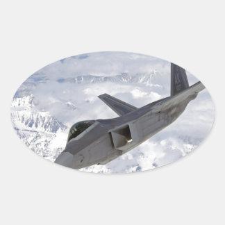 F-22 Raptor-Elmendorf AFB Oval Sticker
