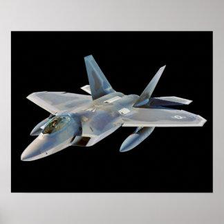 F-22 Raptor Fighter Jet Custom Background Color Poster