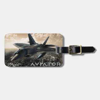 F-22 Raptor Jet Fighter Bag Tag