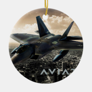 F-22 Raptor Jet Fighter Ceramic Ornament