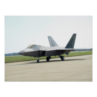 F-22 Raptor of  the 1st FW at Shaw AFB, SC. Poster