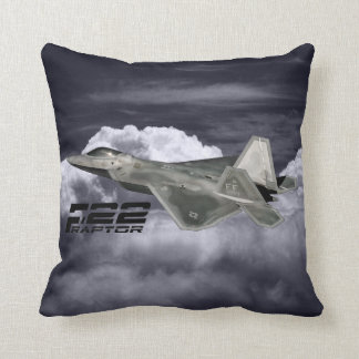 "F-22 RAPTOR Polyester Throw Pillow 16"" x 16"""
