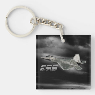 F-22 RAPTOR Square (double-sided) Keychain