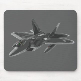 F 22 Raptor Stealthy Fighter Aircraft Mouse Pad