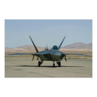 F-22 Raptor Taxiing Posters