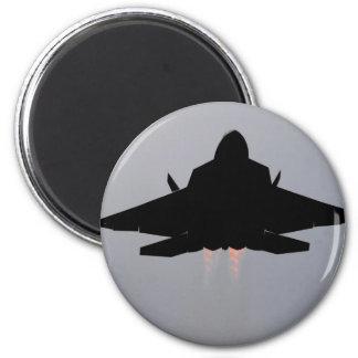 F-22 STEALTH FIGHTER 2 INCH ROUND MAGNET