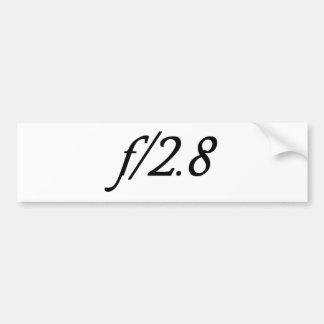 f/2.8 pegatina para auto