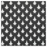 F-35 Lightning 2 Fighter Jets Pattern White Black Fabric
