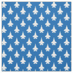 F-35 Lightning 2 Fighter Jets Pattern White Blue Fabric
