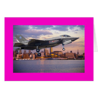 F-35 LIGHTNING FIGHTER AIRCRAFT GREETING CARD