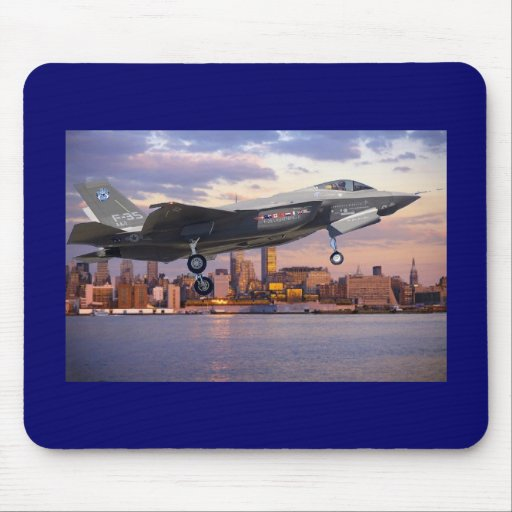 F-35 LIGHTNING FIGHTER AIRCRAFT MOUSE PAD