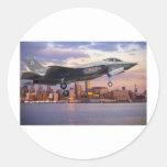 F-35 LIGHTNING FIGHTER AIRCRAFT CLASSIC ROUND STICKER