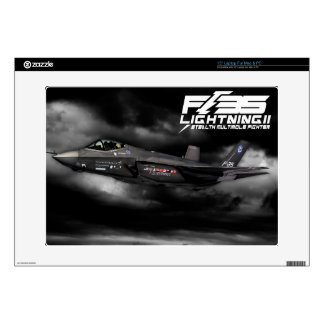 "F-35 Lightning II Decal For 15"" Laptop"