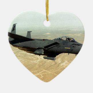 F-35 relámpago II Adorno Navideño De Cerámica En Forma De Corazón