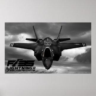 F-35 relámpago II Póster