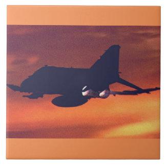 F-4 fantasma II Azulejo Cuadrado Grande
