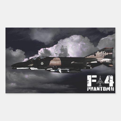 F-4 fantasma II Rectangular Pegatinas